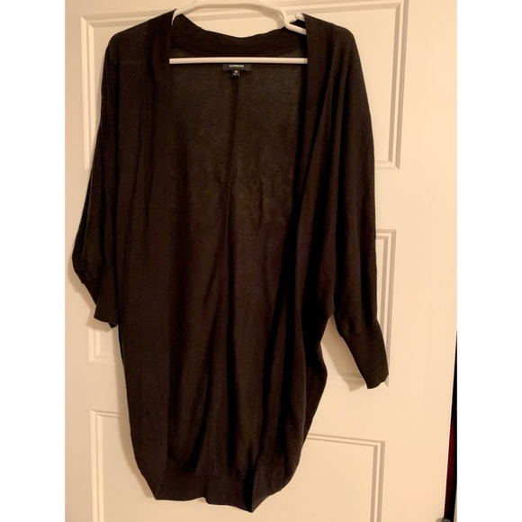 Express Sweaters - Light weight Express open front black cardigan